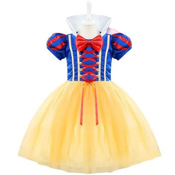 Brand Girl 1st Birthday Outfits Princess Snow White Costumes Baby Kids Clothing Festival Christening Gowns Toddler Girl Clothes