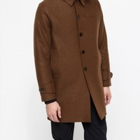 Harris Wharf London Pressed Wool Boxy Overcoat