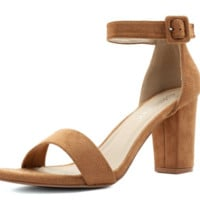 Woman Chunky Heel Ankle Strap Sandals