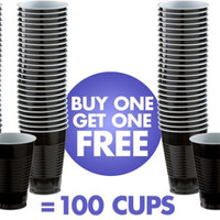 BOGO Black Paper Coffee Cups 40ct- Party City