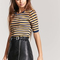 Ribbed Stripe Ringer Tee