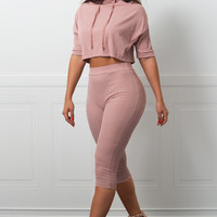 Abby Two Piece Set Dusty Rose