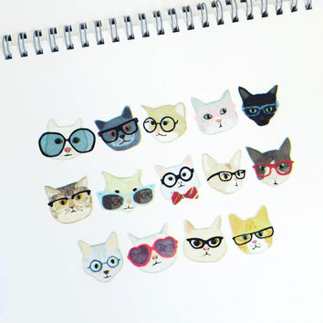 Glasses Cat by aimez le style washi masking tape mt