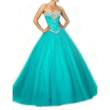 Dress for 15 Birthday Beading Sweet 16 Dresses Masquerade Ball Gowns Cheap Quinceanera Dress 2015