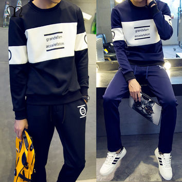 Men Hoodies Winter Brand Tracksuit Set