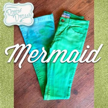 Mermaid Colored Jeans (Youth & Adult) - Ranch Dress'n