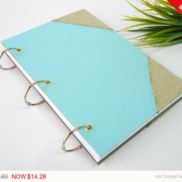 Sale - Holidays gift Personizable ring journal with a pocket inside the cover- 200 pages- A4, A3, A5, A6- refillable journal