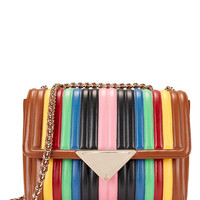 Sara Battaglia Elizabeth Rainbow Shoulder Bag at INTERMIX | Shop Now | Shop IntermixOnline.com