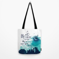 The Lunar Chronicles Quote Tote Bag by Infinitelyeverafter