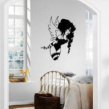 Wall Stickers Vinyl Decal Fairy Magic Girl Cartoon For Kids Nursery ig1627