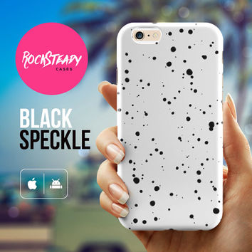 iPhone 5C case, Black and white speckled iphone 5C case, iphone 6 case, iPhone 6 Plus case, iPhone 5 Case, iPhone 5s Case, iPhone 5C case,
