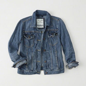 Womens Classic Denim Jacket | Womens New Arrivals | Abercrombie.com