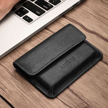 NewBring Slim Functional Geniune Leather Wallet Purse With Card Slot Holder Cash Coin Front Pocket For Men Women Male Female