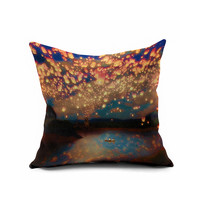 Romantic Lights Couple Gifts Cushion [6451631750]