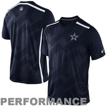 Nike Dallas Cowboys Dri-FIT Hypervent Performance T-Shirt - Navy Blue