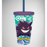 Pokemon Gengar Cup with Straw
