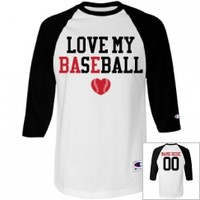 Baseball Bae Love Baseball Girlfriend Ragln Jersey from Customized Girl