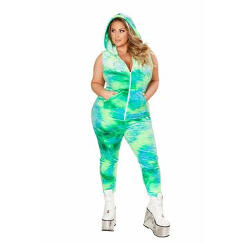 Tie Dye Velvet Jumpsuit- Sea Queen