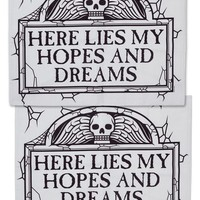"""Tombstone"" Pillowcase Set by Sourpuss Clothing (Grey)"
