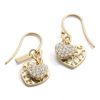Coach :: Double Heart Dangle Earrings