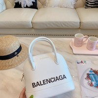 Balenciaga Women Leather Shoulder Bag Shopping Satchel Tote Bag Handbag