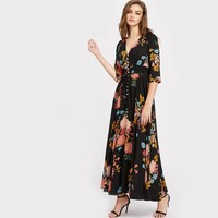 Josey Button-up Maxi Dress
