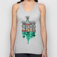 Pineapple architecture  Unisex Tank Top by AmDuf