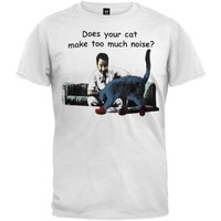 Mens Its Always Sunny In Philadelphia Does Your Cat Make Too Much Noise? T-shirt
