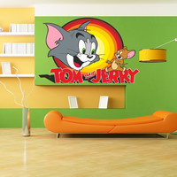 Tom & Jerry Full Color Decal, Full color sticker, colored  Tom & Jerry gc064