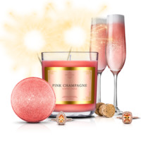 Pink Champagne - Candle & Bath Bomb Gift Set With a Ring and a Chance to Win a $10k Ring