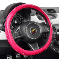 Steering Wheel Cover w/bling (black, beige or hot pink)
