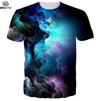 Men's Graphic T-Shirt 2017 Cloud Pattern 3D Printed Tshirt Poleras Hombre Casual Summer Tops Tees Brand Big Size Funny T Shirt