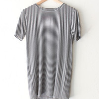 Striped Oversize Shirt - White/Black