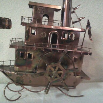 Vintage Copper Riverboat Music Box