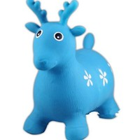Little Fawn Hopper Ride-on Bouncer Toy Inflatable Toy Toddler Kids Blue