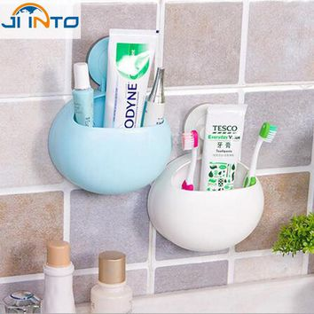 Newest New Toothbrush Holder Bathroom Kitchen Family Toothbrush Suction Cups Holder Wall Stand Hook Cups Organizer Hot