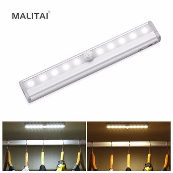Wireless PIR Motion Sensor light Switch Battery Power LED Rigid Bar lamp For Closet Wardrobe Cabinet Stairs Hallway lighting