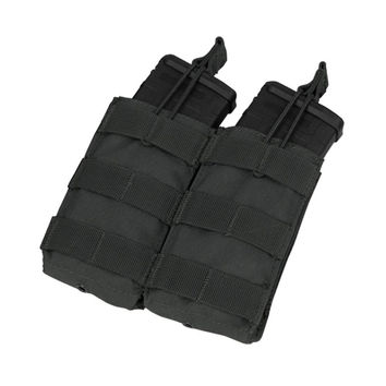 Double M4-M16 Open Top Mag Pouch Color- Black