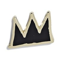 Jean-Michel Basquiat - Crown Pin - Black and Gold