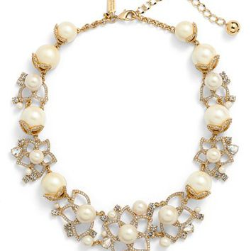 kate spade new york 'bouquet' faux pearl statement necklace | Nordstrom