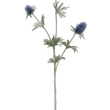 """Navy Blue Artificial Thistle Wildflowers - 26"""" Tall"""