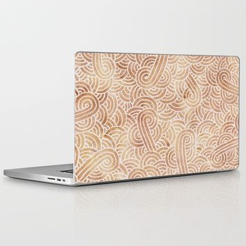 Iced coffee and white zentangles Laptop & iPad Skin by Savousepate