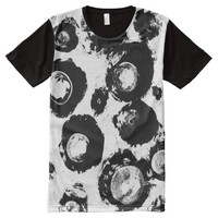 Crystal Eyes Hand-Painted Black And White All-Over-Print Shirt