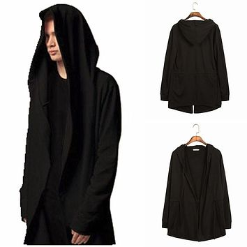 2016 new arrival men male fashion casual long cloak mantle pluvial pullover hoodies hip hop Individuality outwear free shipping
