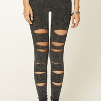 Glitter Cutout Leggings