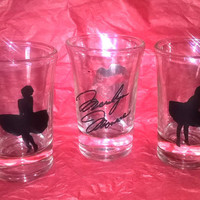 Marilyn Monroe 3 pc Set Vinyl Shot Glasses