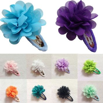 LNRRABC Sale 2 Pcs Baby Children Girls Kids Flower Pumpkin Hair Clip Hairpins Floral Barrette Toddler Hair Accessories Gift