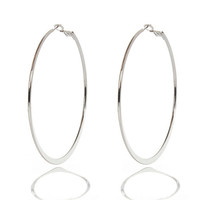 River Island Womens Silver tone flat bottom hoop earrings