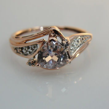 Beautiful Morganite Ring in Rose Gold, RGMG102N