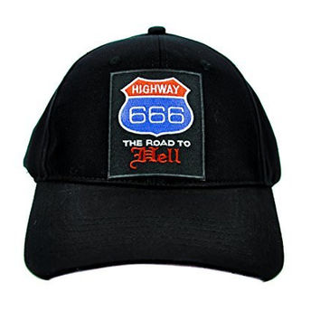 Highway 666 Road to Hell Hat Baseball Cap
